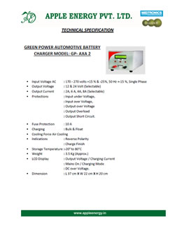 GP-AXU 2 Technical Specification